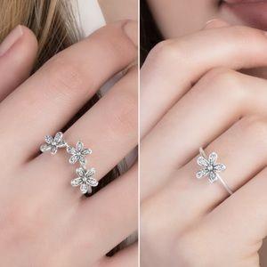 2f88dae90 ... ebay pandora jewelry pandora triple dazzling daisey daisy ring 1f0f7  bc9d5